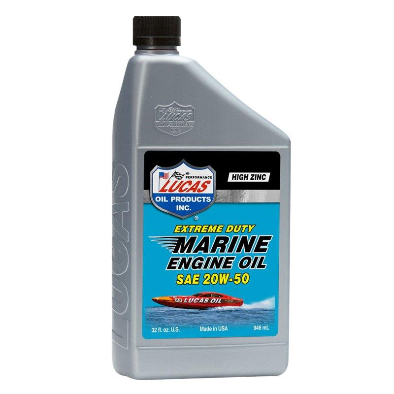 Lucas oil 10653 extreme duty marine engine oil sae 20w for Sae 20 motor oil