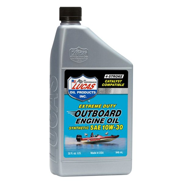 Lucas Oil 10661 Synthetic Outboard Engine Oil Sae 10w