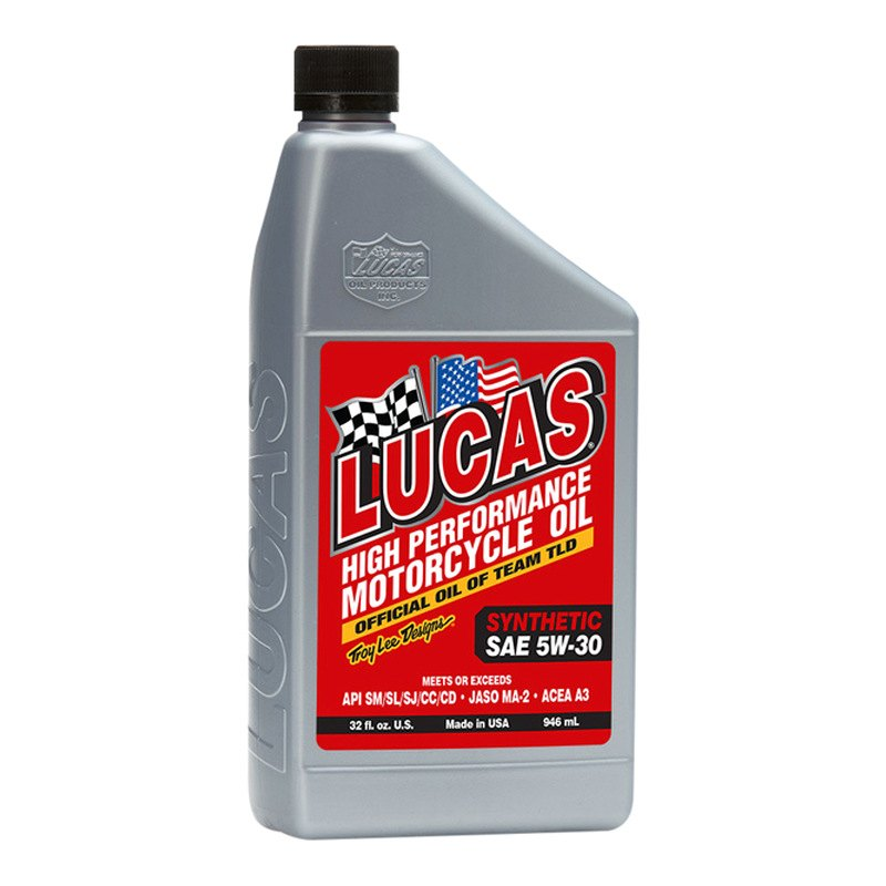 Lucas Oil 10706 Sae 5w 30 Synthetic Motorcycle Oil 1 Quart