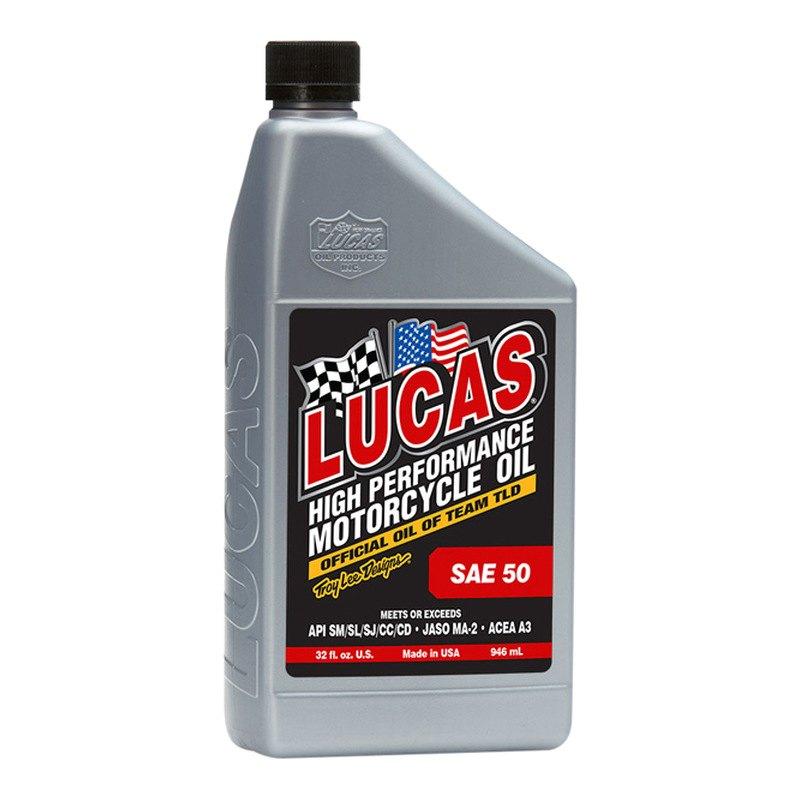 Lucas Oil 10712 Sae 50 Wt Motorcycle Oil 1 Quart