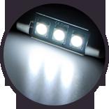 Lumen - White 1.75 inch LED Bulb