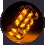 Lumen - Amber Exterior LED Bulb