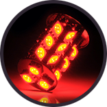 Lumen - Red Exterior LED Bulb