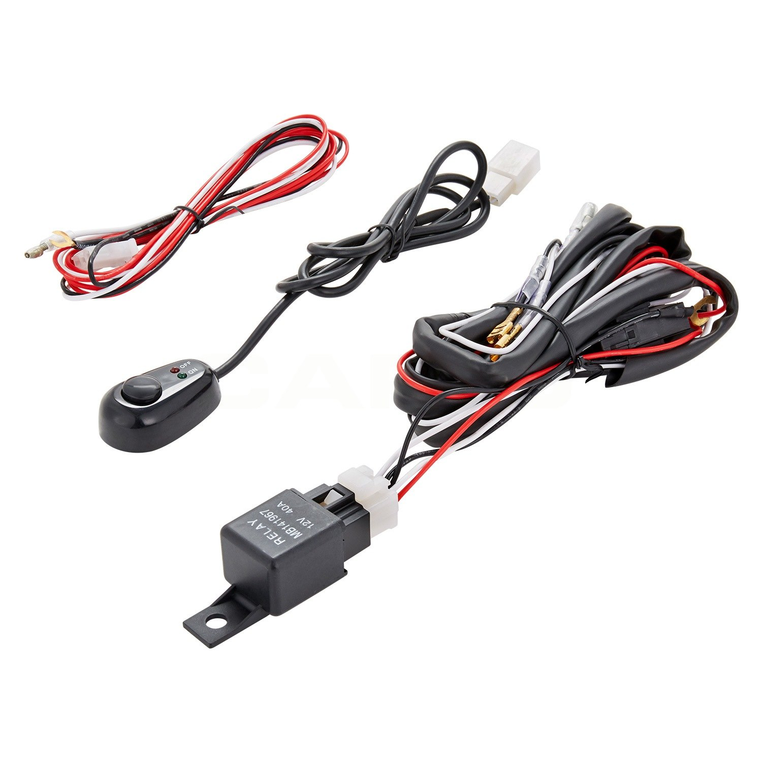 Lumen 86 1001007 Fog Light Wiring Harness With Switch Wire Technology