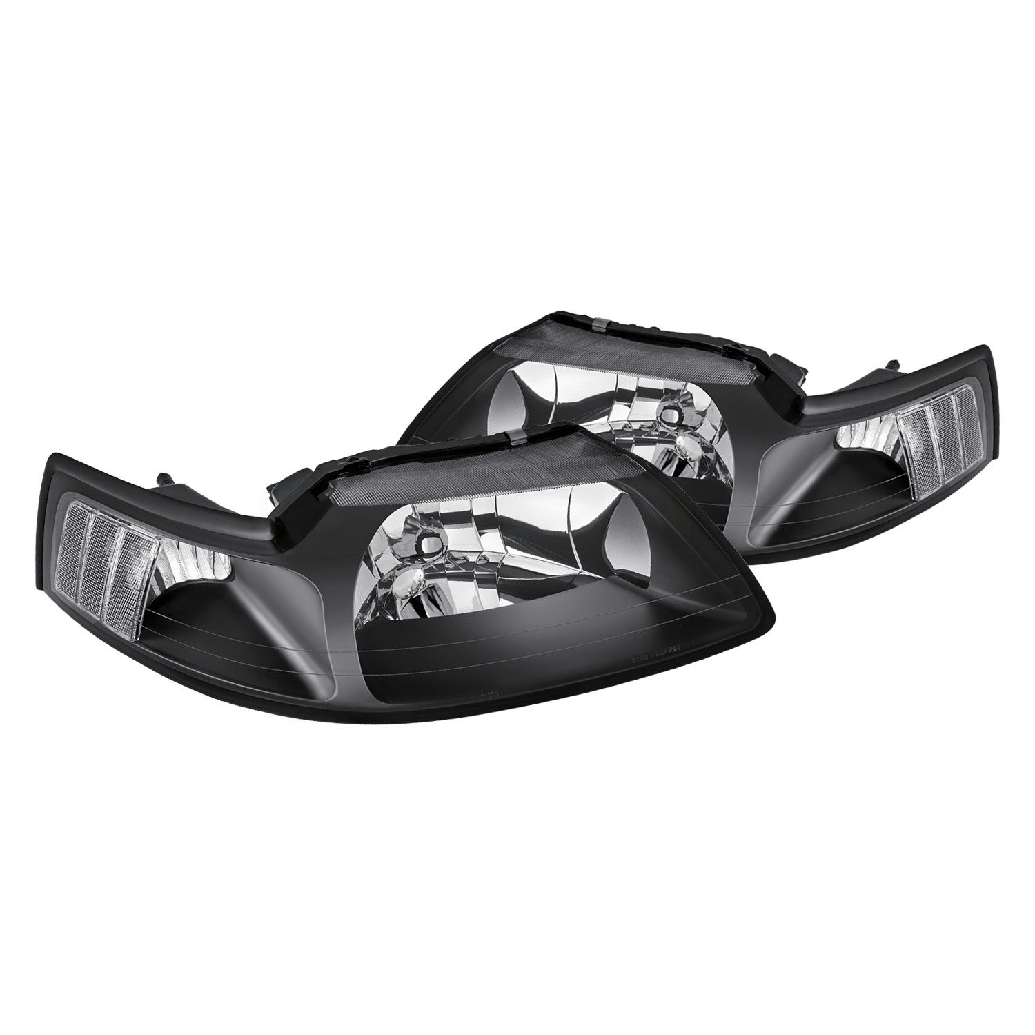 Lumen® - Ford Mustang 2001 Black Factory Style Headlights