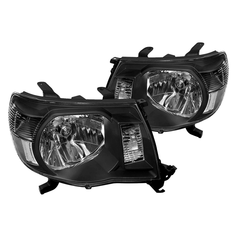 lumen toyota tacoma 2005 black euro headlights. Black Bedroom Furniture Sets. Home Design Ideas