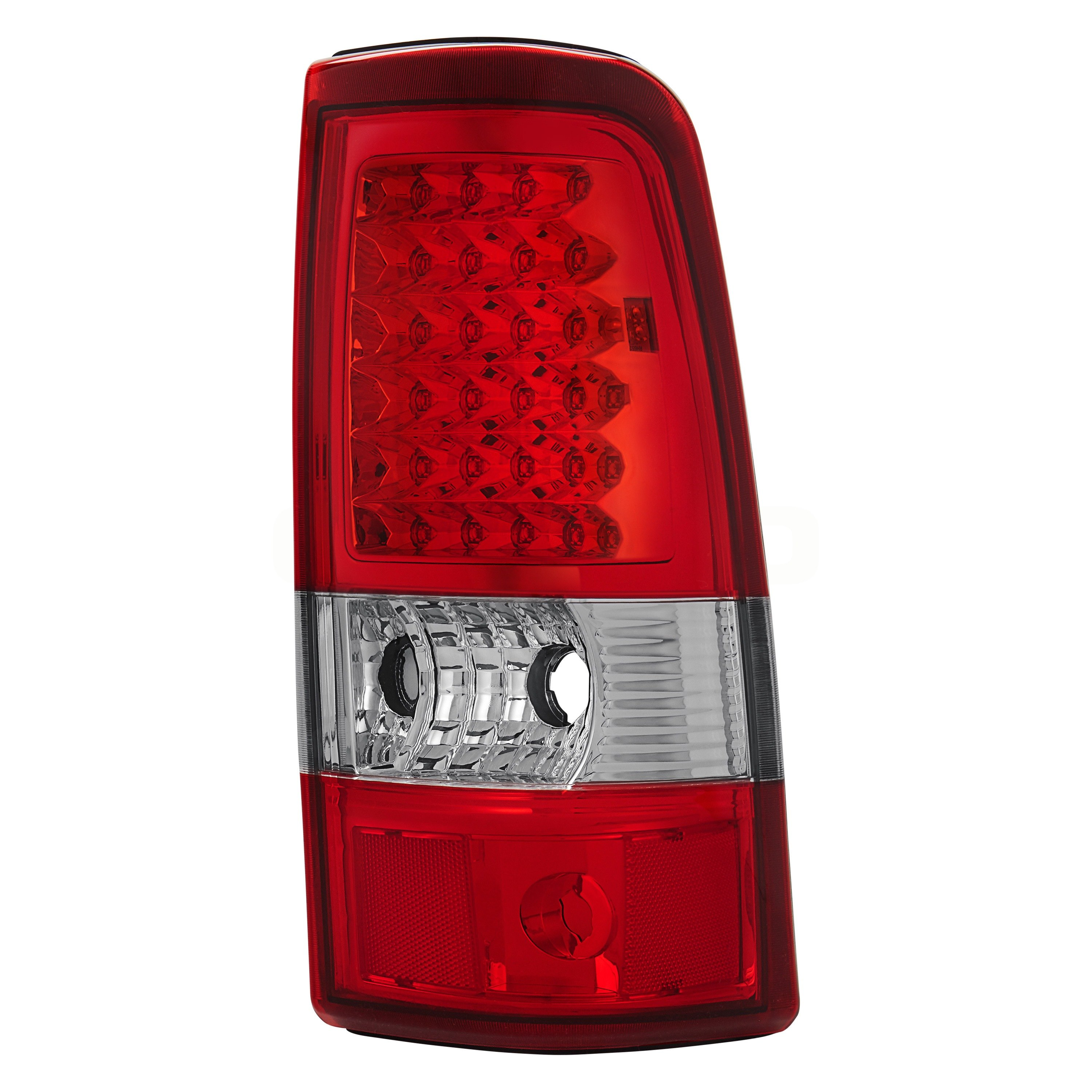 Lumen Chevy Silverado Fleetside 2004 Chrome Red Led Tail Lights