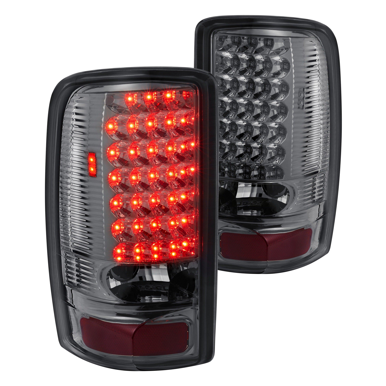 for gmc sierra 1500 2002 2006 lumen 88 1001045 chrome smoke led tail lights 818688029240 ebay. Black Bedroom Furniture Sets. Home Design Ideas