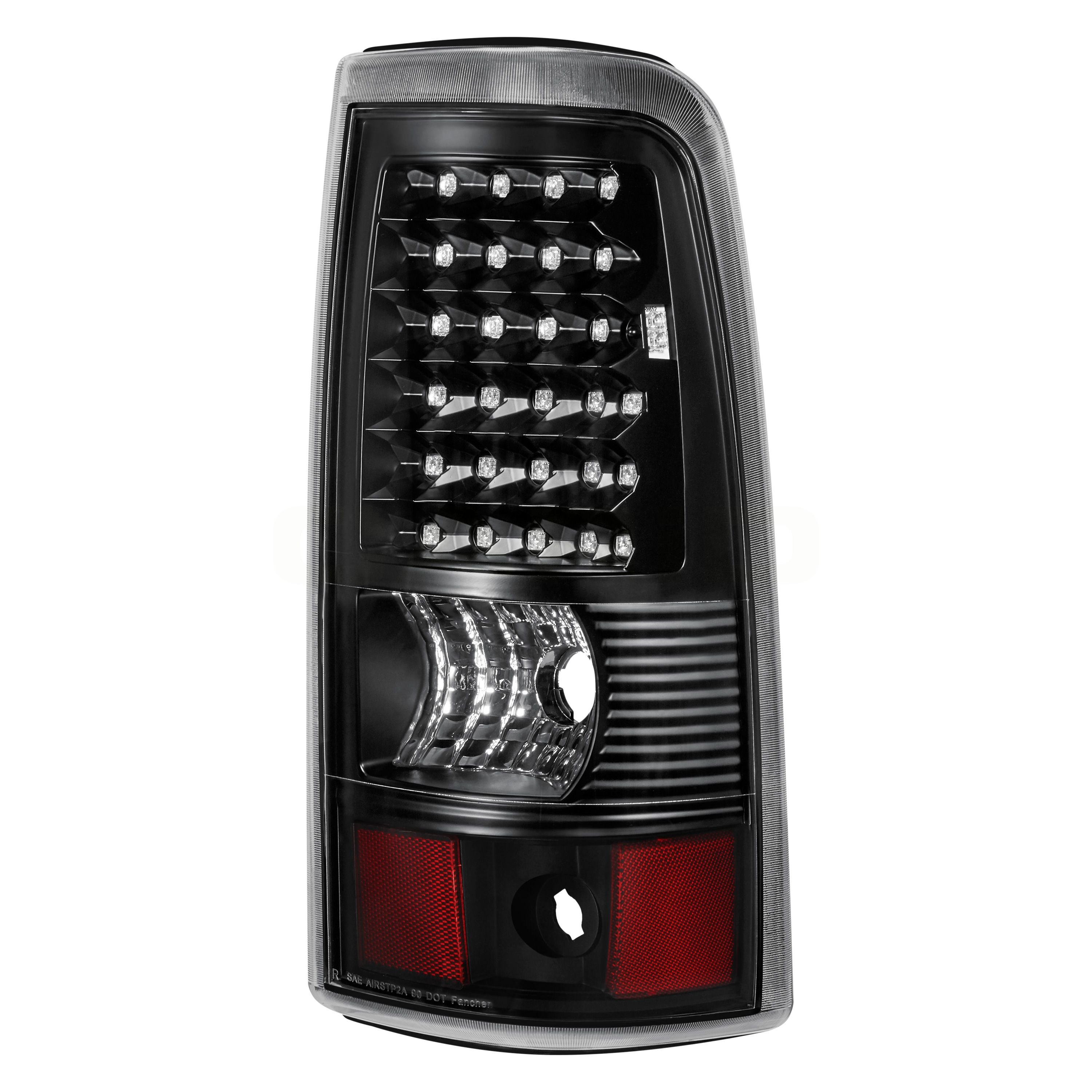 Lumen Chevy Silverado Fleetside 2004 Black Led Tail Lights