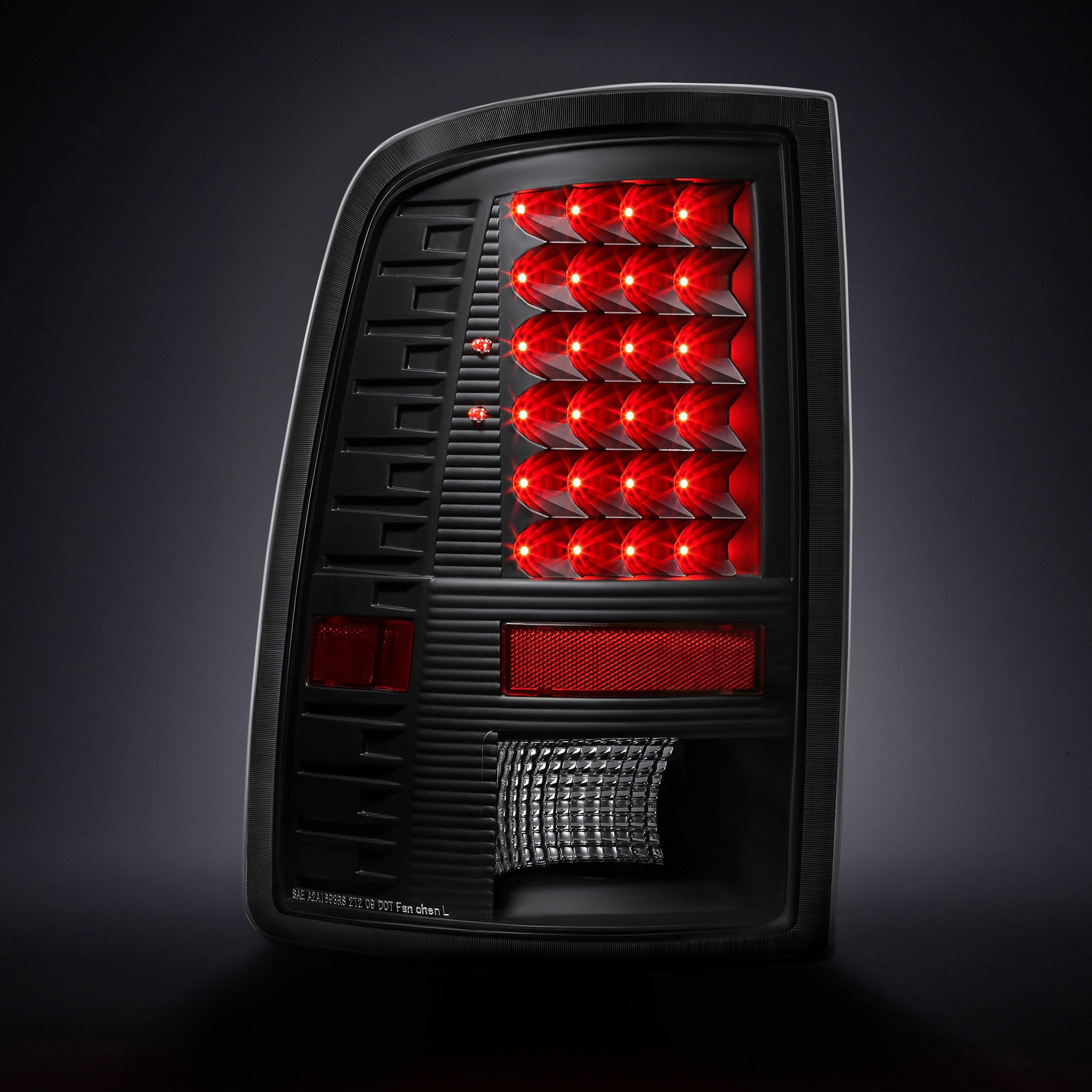 lumen ram 1500 with factory incandescent tail lights 2015 2018 black led tail lights. Black Bedroom Furniture Sets. Home Design Ideas