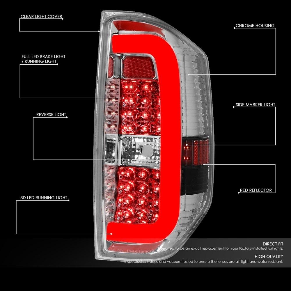 Lumen® - Chrome C-Shape Fiber Optic LED Tail Lights