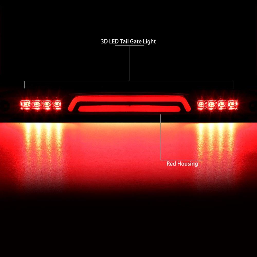 Lumen® - Chrome/Red Tailgate Mounted Fiber Optic LED 3rd Brake Light