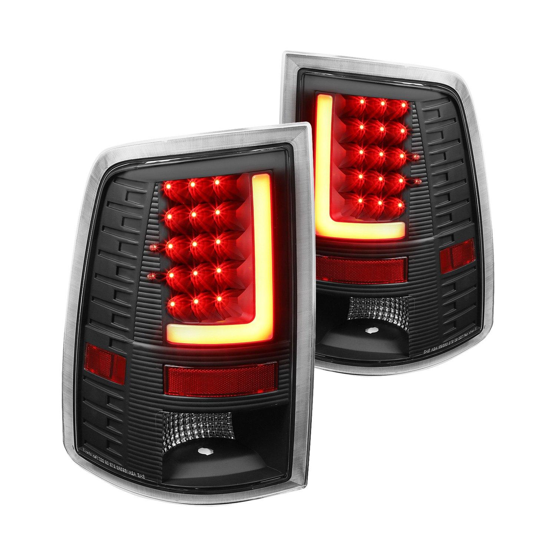 Lumen black fiber optic led tail lights