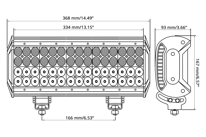 lumen or944c 14 5 180w quad row spot beam led light bar rh carid com Banshee Wiring-Diagram Sunl 4 Wheeler Wiring Diagram