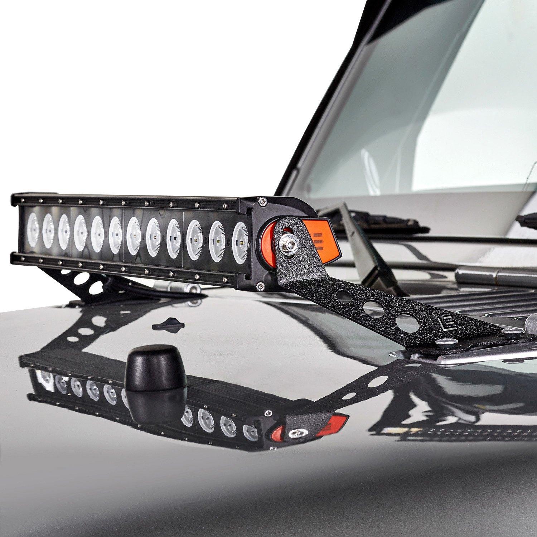 lumen jeep wrangler 2008 24 light bar hood mounts. Black Bedroom Furniture Sets. Home Design Ideas