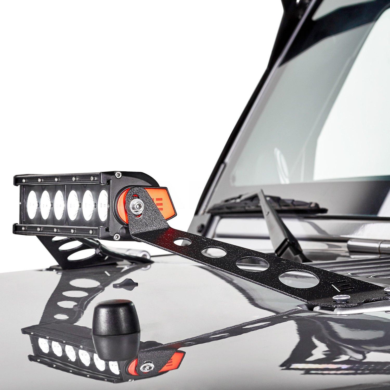 lumen jeep wrangler 2016 14 light bar hood mounts. Black Bedroom Furniture Sets. Home Design Ideas
