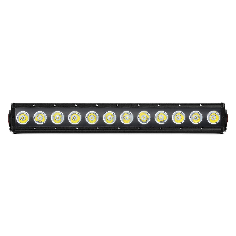 Lumen single row led light bar with illuminated end caps 20 120w single row combo beam led light bar with illuminated end caps aloadofball Images