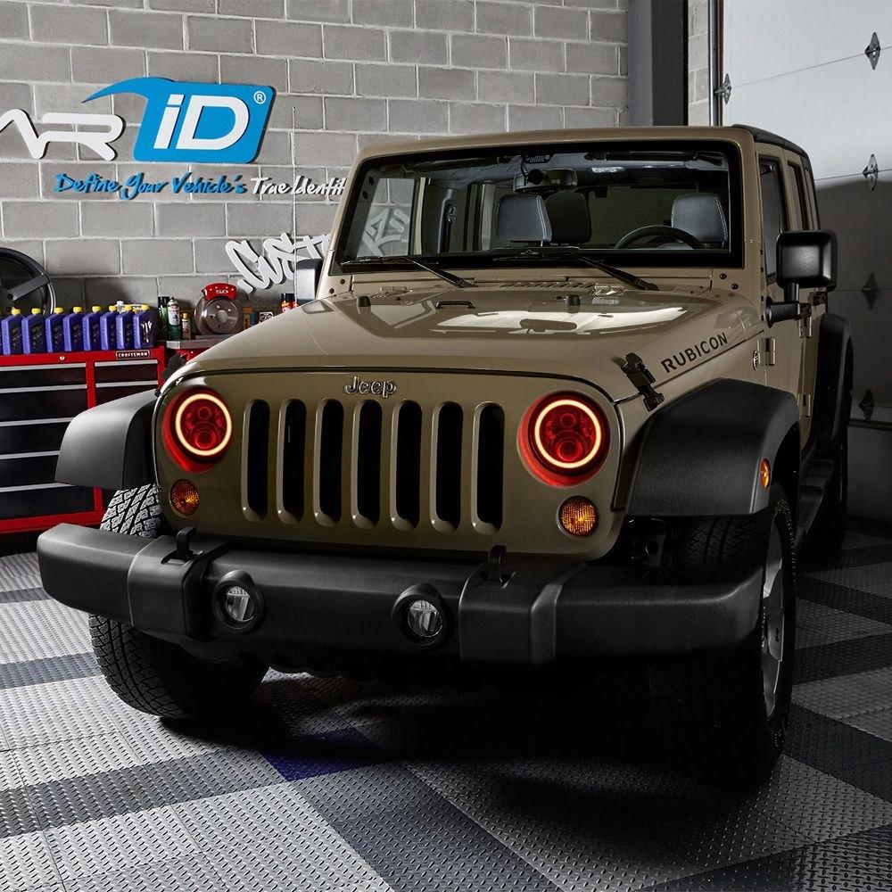 Lumen 174 Jeep Wrangler Jk 2018 7 Quot Round Black Rgb Halo