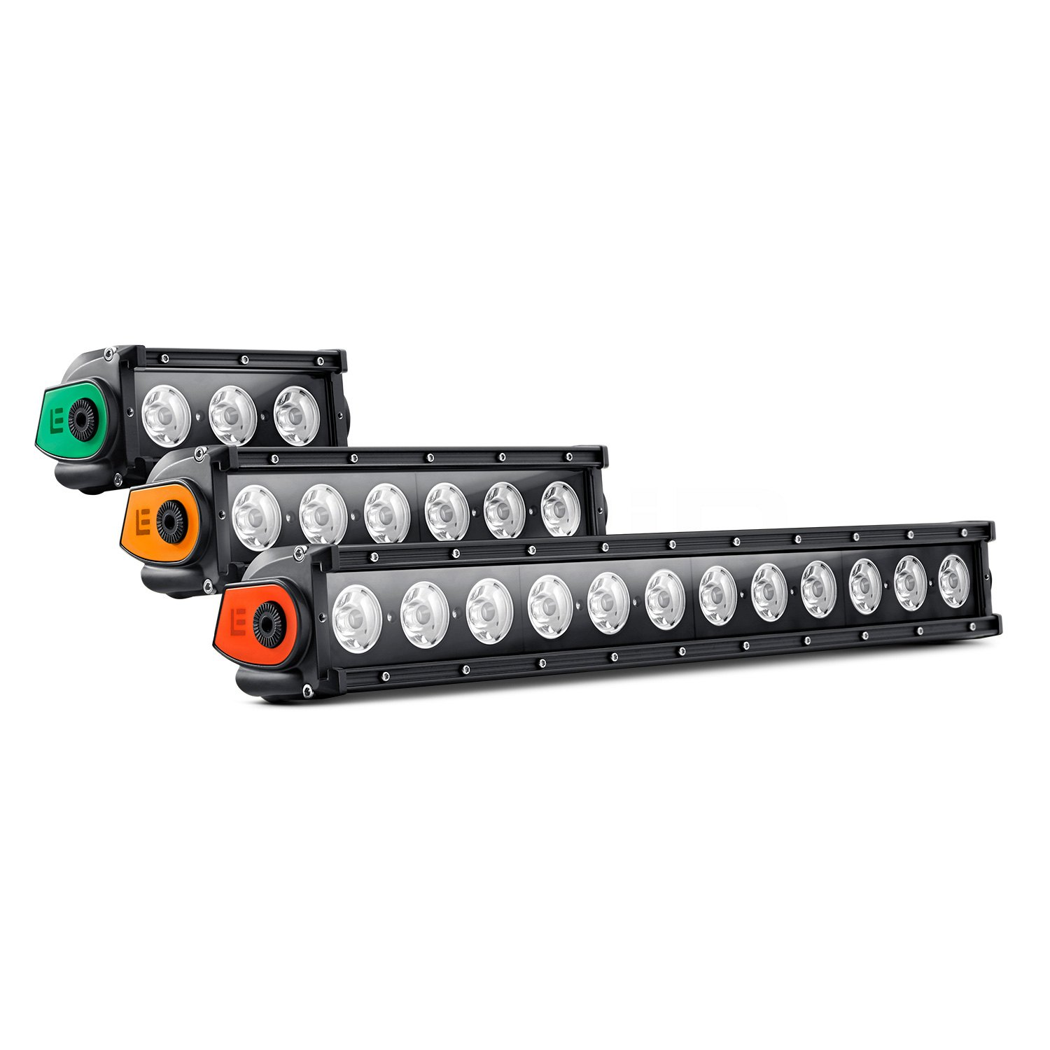 Lumen single row led light bar with illuminated end caps lumen single row led light bar with illuminated end caps 6 aloadofball Images