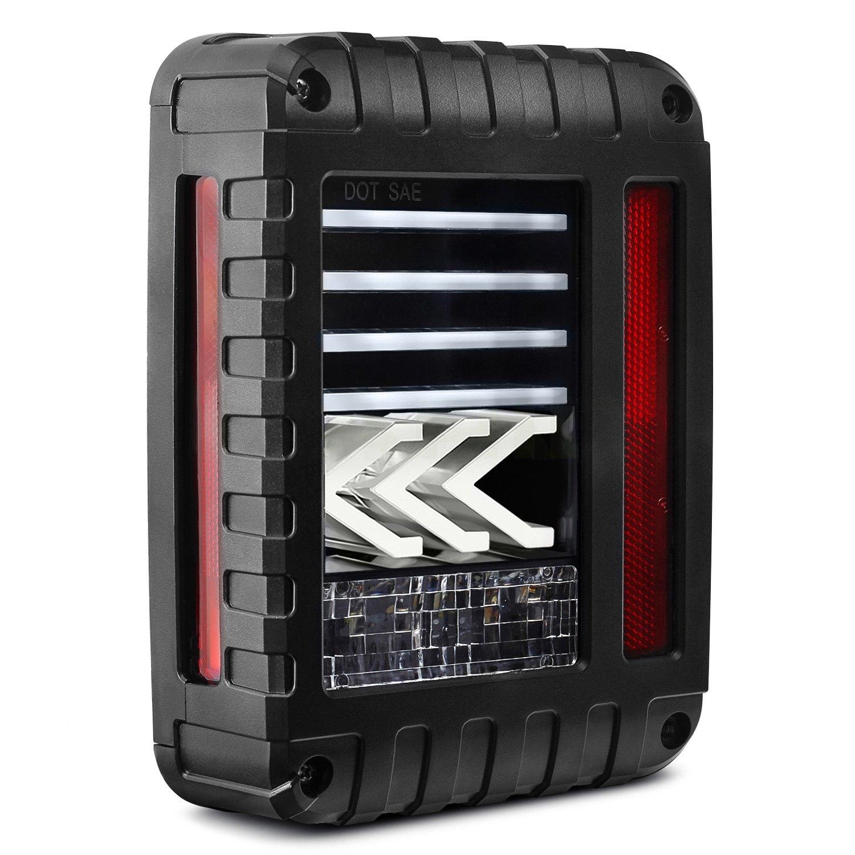Lumen 174 Jeep Wrangler 2007 Black Sequential Fiber Optic