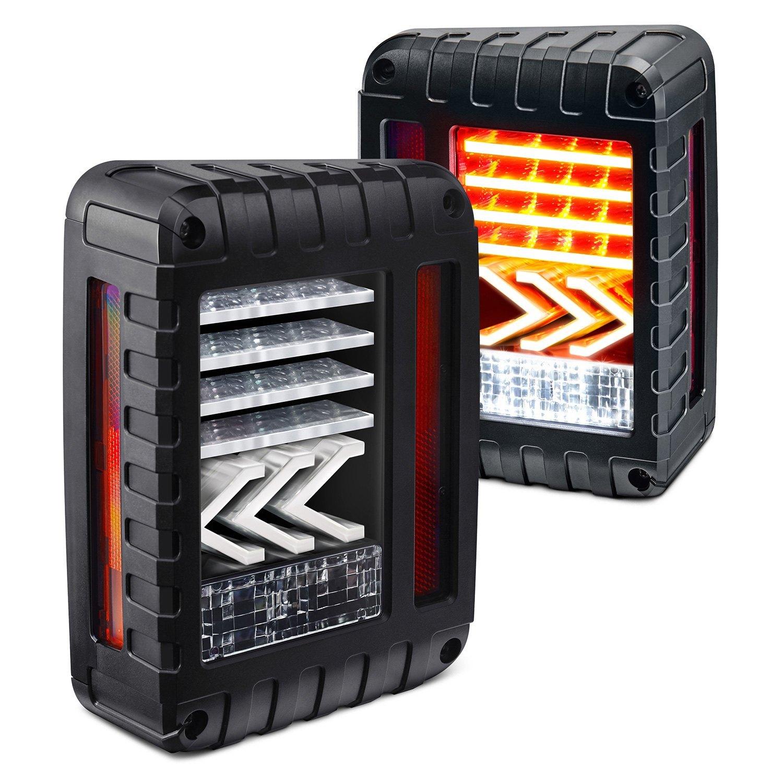 Jeep Wrangler 07 15 Lumen Black Sequential Fiber Optic Led