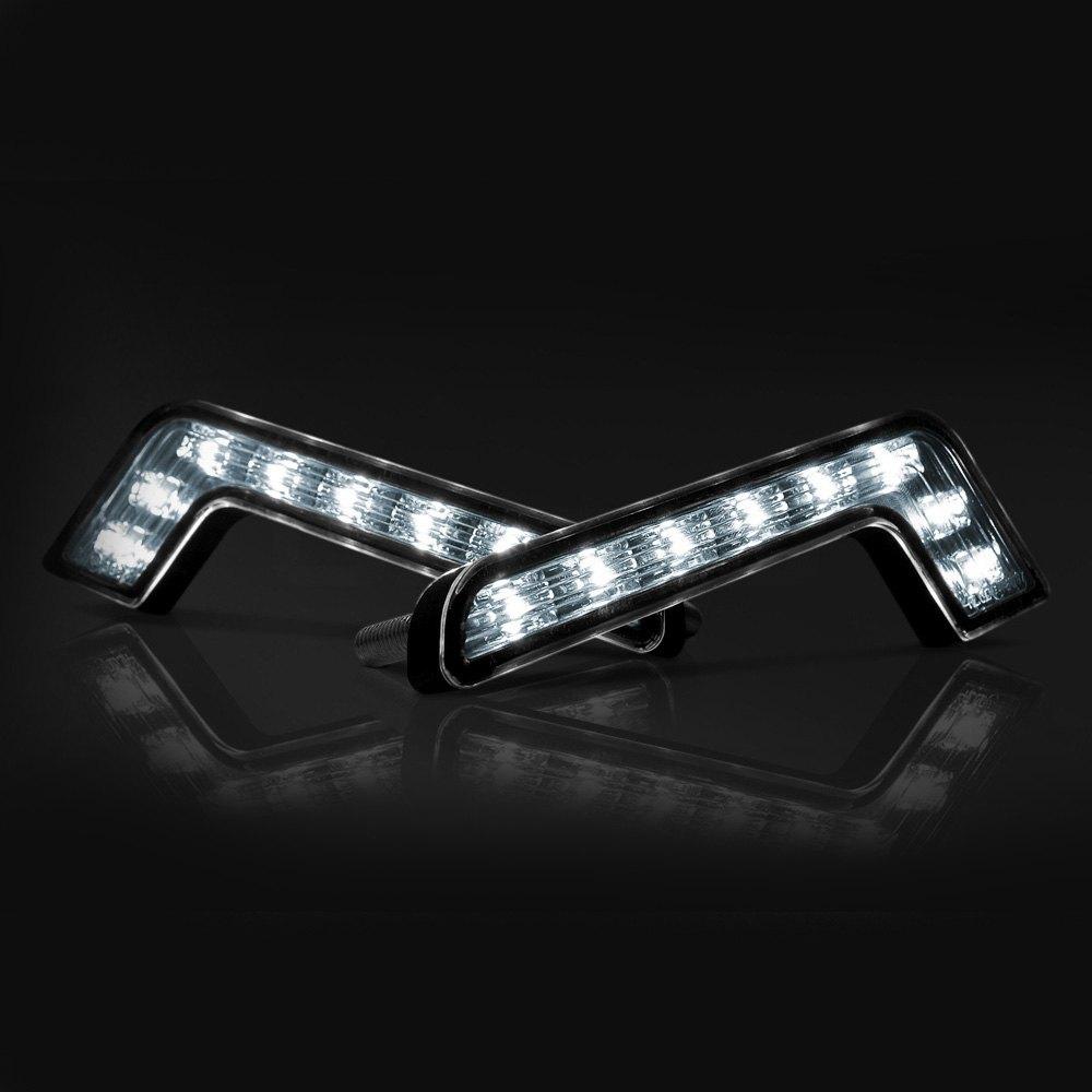 6 3 l shaped led daytime running light kit lighted