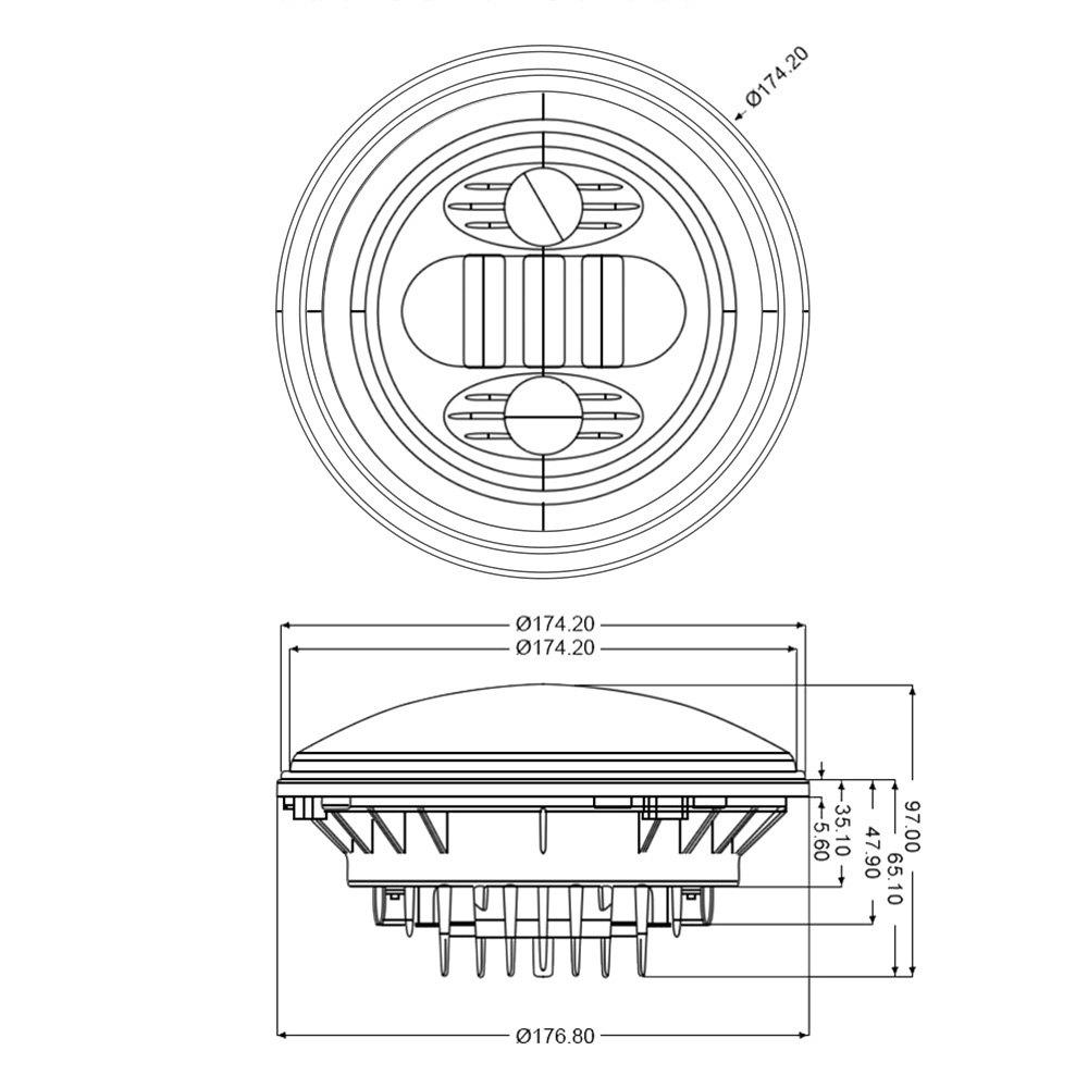 Lumen Dodge Dart 1964 7 Round Black Projector Led Headlights Wiring Diagram Connectorlumen With Switchback Halo Scheme