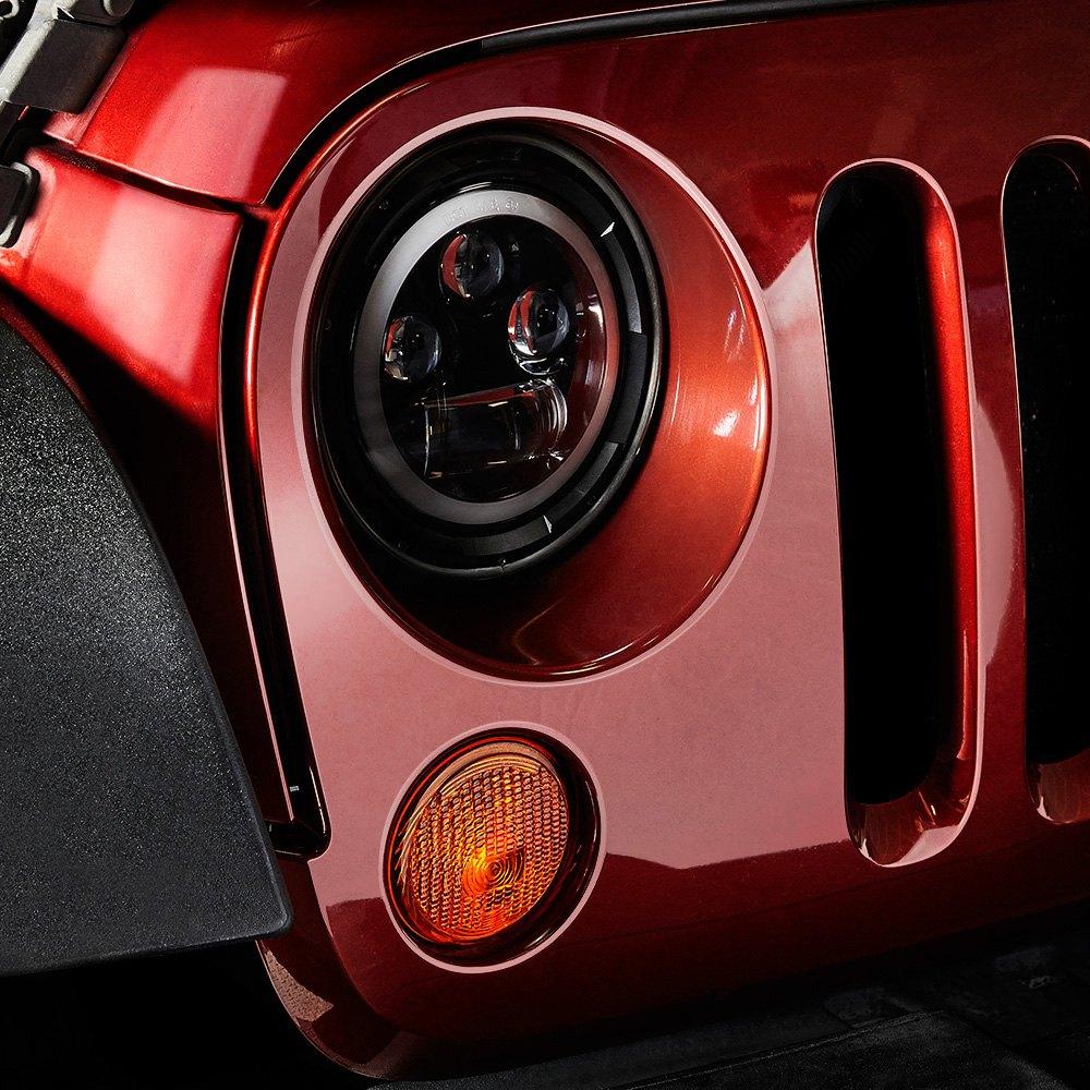 Lumen 174 Jeep Wrangler 2016 7 Quot Round Black Projector Led