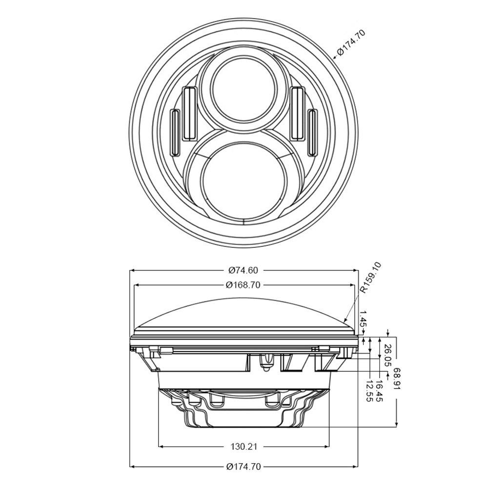 Lumen Sb7250xx Blk 7 Round Black Projector Led Headlights With Wiring Diagram Switchback Halo Installed On A Jeep Wrangler High Beam Light Onlumen