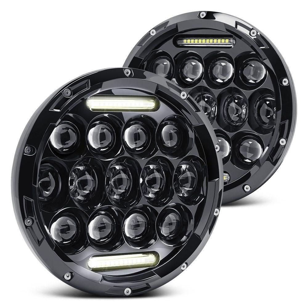 Lumen 174 Jeep Wrangler 2013 7 Quot Round Black Led Projector