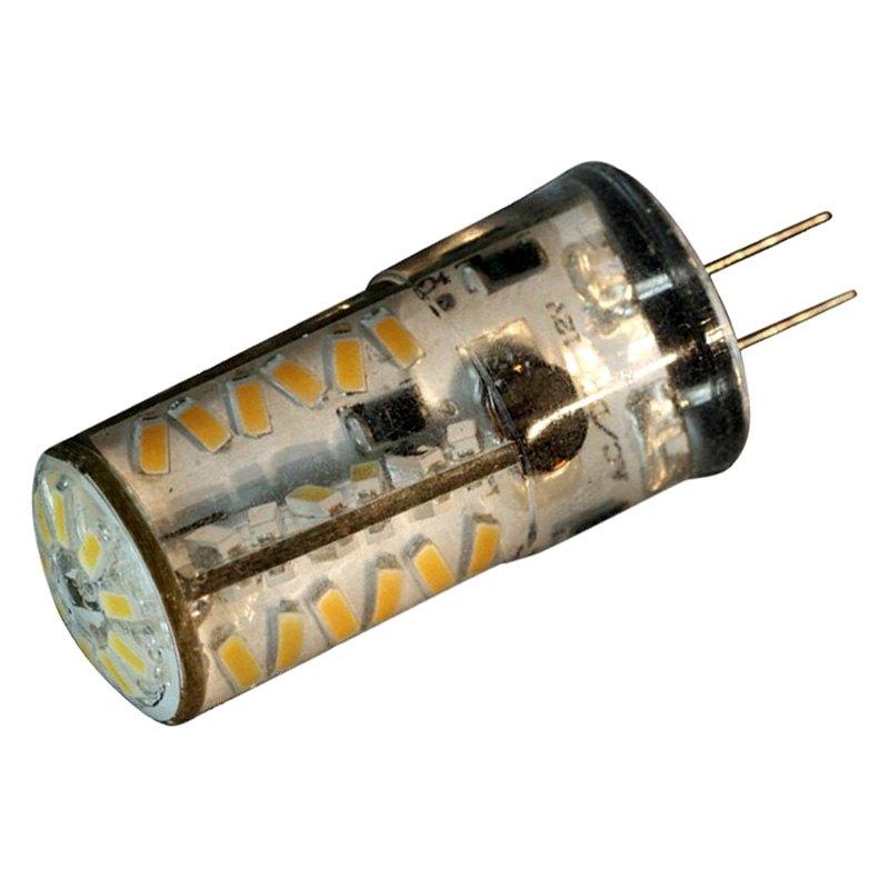 lunasea lighting white g4 led bulb 3w 12v bottom pin. Black Bedroom Furniture Sets. Home Design Ideas