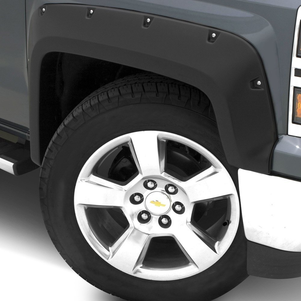 Lund elite series rx rivet style smooth black front fender flares
