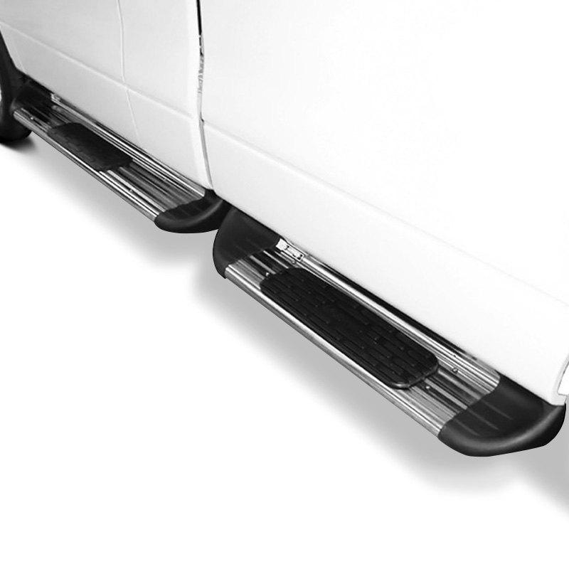 luverne 481039 7 sst box section polished side entry steps. Black Bedroom Furniture Sets. Home Design Ideas