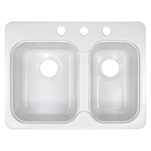 lyons style ee rectangular double bowl sink