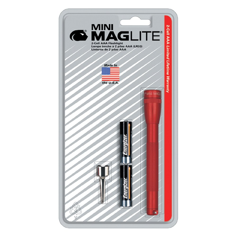 maglite m3a036 ultra mini maglite red flashlight with belt clip and 2 aaa batteries. Black Bedroom Furniture Sets. Home Design Ideas