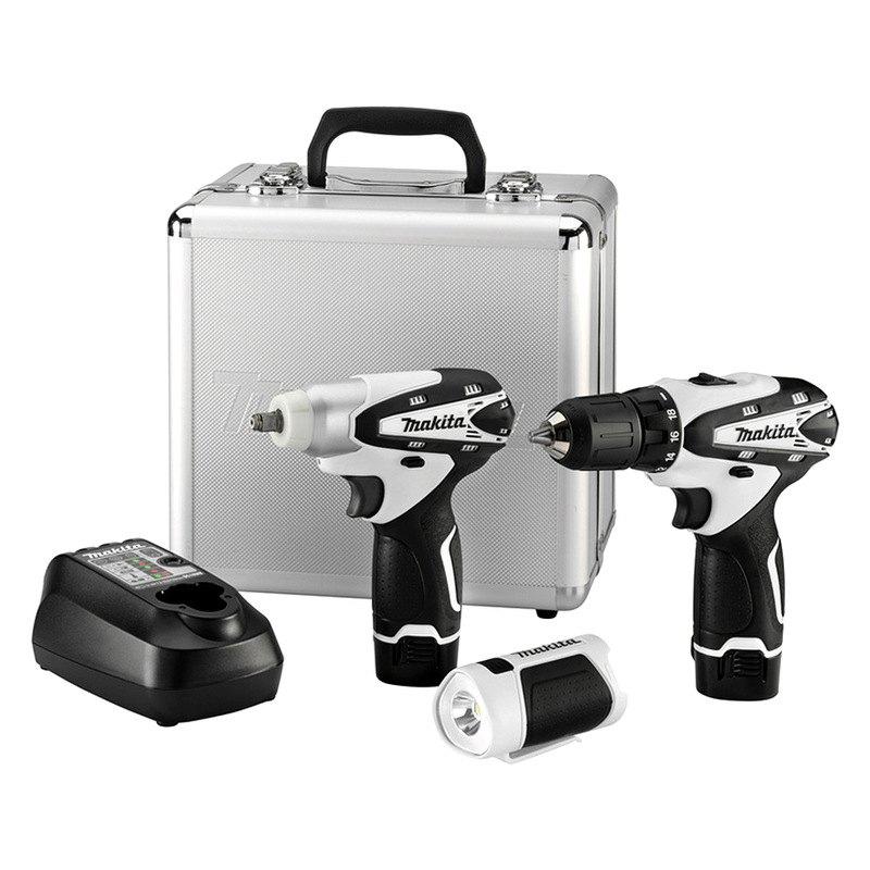 makita lct309w 12v max li ion cordless 3 8 driver drill 3 8 impact wrench flashlight combo kit. Black Bedroom Furniture Sets. Home Design Ideas