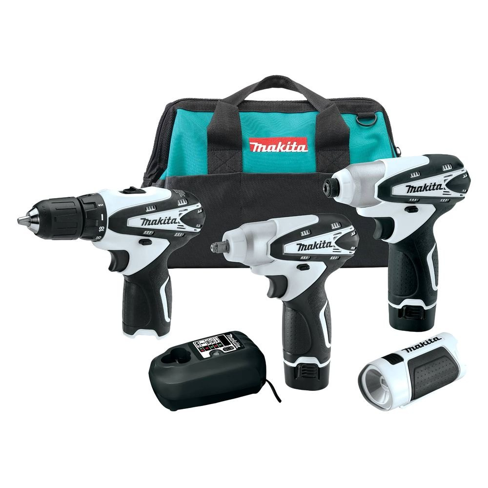 makita lct401w 12v max li ion cordless 4 pieces combo kit. Black Bedroom Furniture Sets. Home Design Ideas