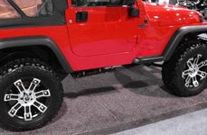 MAMBA® - M1X Matte Black with Machined Face on Jeep Wrangler