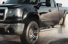 MAMBA® - M2X Gloss Black with Machined Face on GMC Sierra