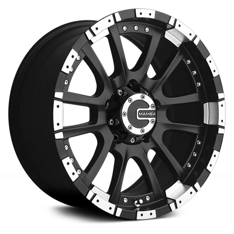 Mamba 174 M12 Wheels Matte Black With Machined Accents Rims