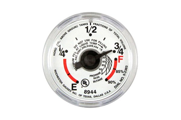 Manchester tank® - snap on direct reading dial for lp tank guage