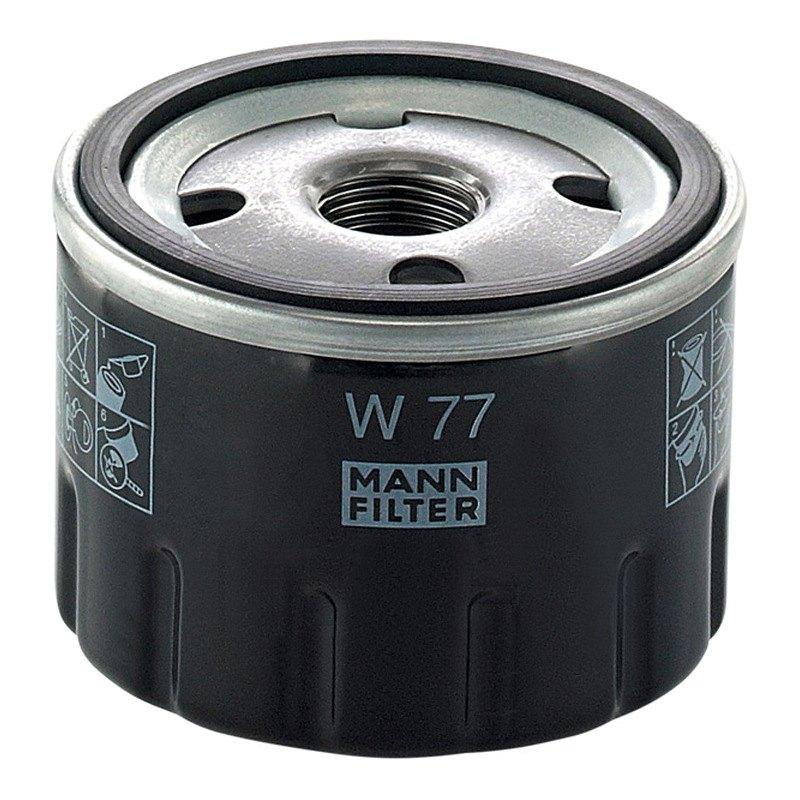 mann filter w77 oil filter. Black Bedroom Furniture Sets. Home Design Ideas