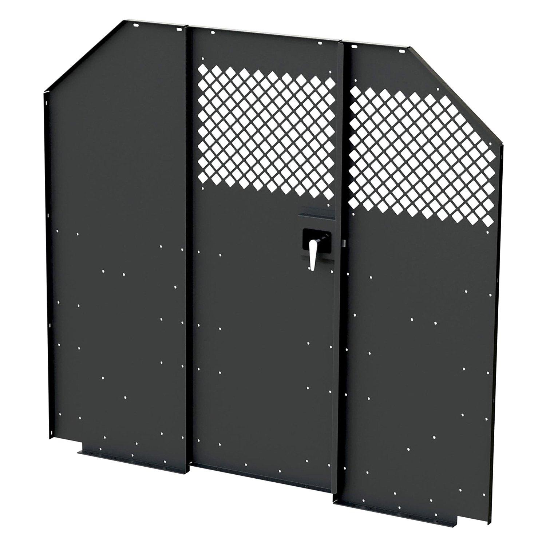 masterack® 027088kp - steel partition with hinged door
