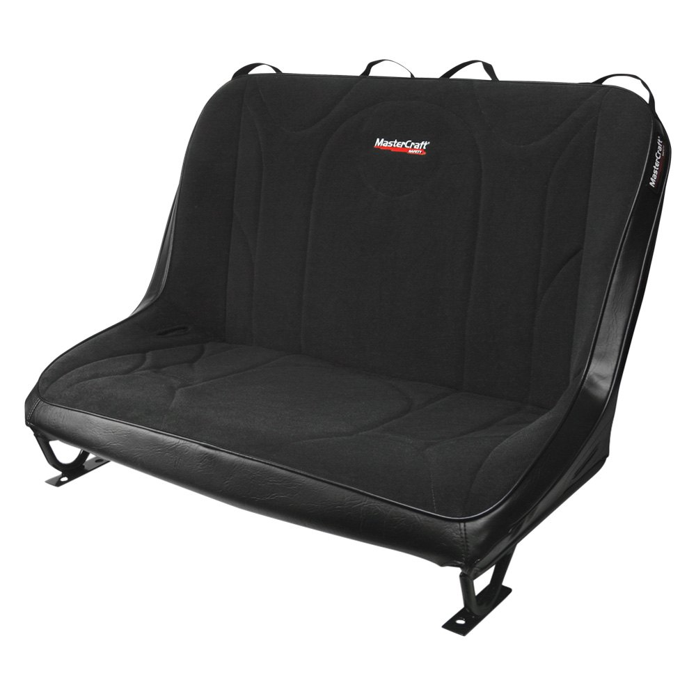 Astonishing Mastercraft Safety 310254 Rubicon Rear Bench Seat Black With Black Center And Black Side Panels Uwap Interior Chair Design Uwaporg