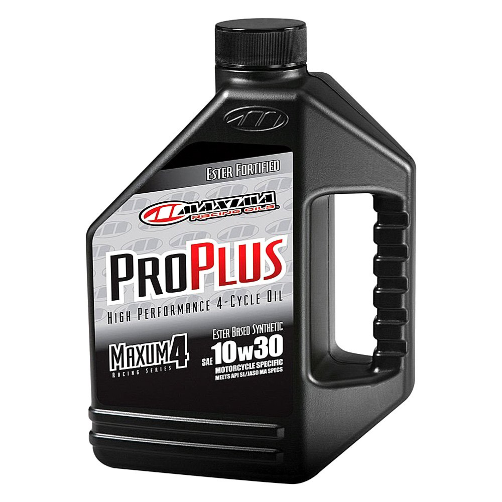 Maxima racing oils pro plus synthetic motorcycle engine oil for Motor oil for motorcycles