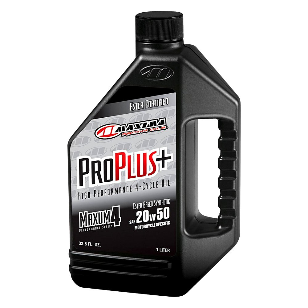 Maxima racing oils 30 03901 sae 20w 50 pro plus for Motor oil for motorcycles