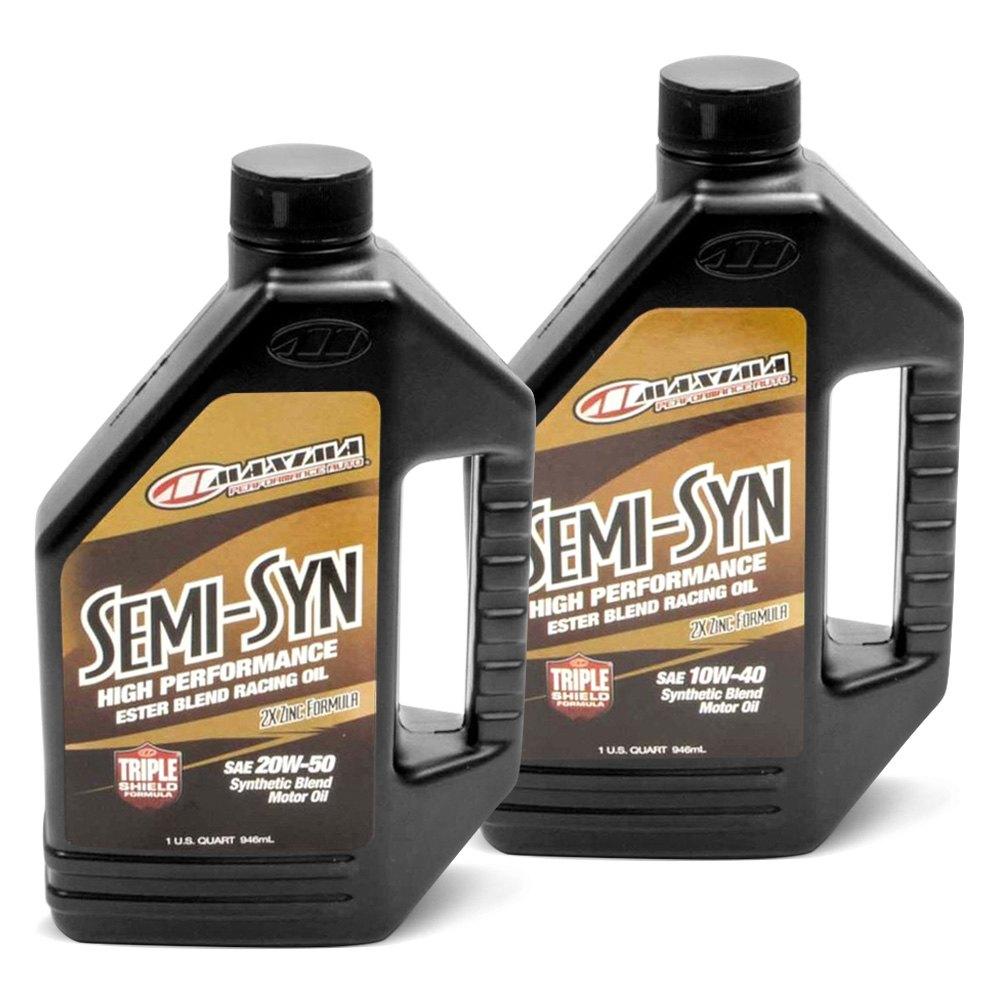Maxima Racing Oils Semi Syn Synthetic Blend Motor Oil