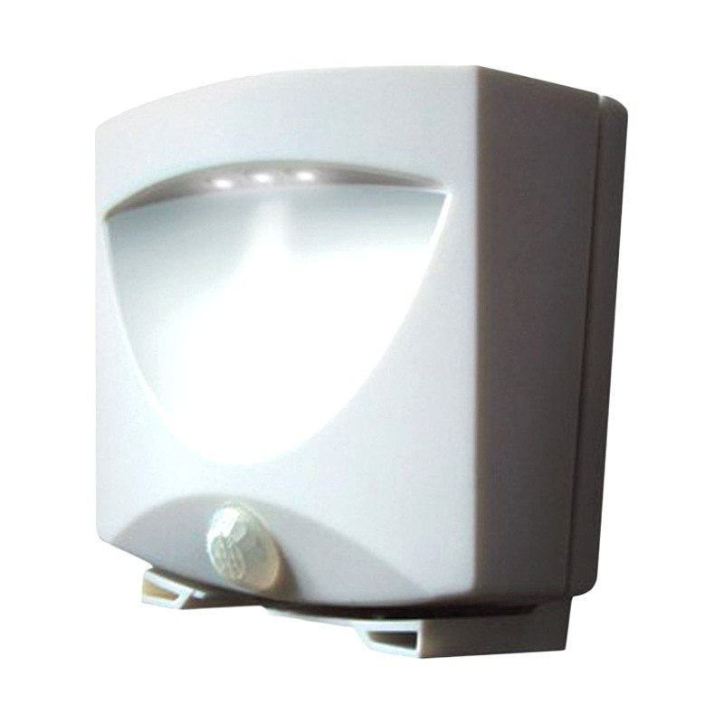 40341 battery powered motion activated outdoor night light white. Black Bedroom Furniture Sets. Home Design Ideas