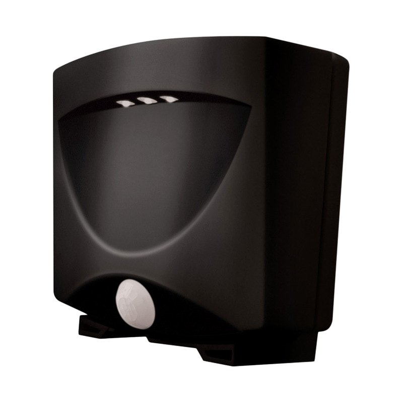maxsa battery powered motion activated outdoor night light black. Black Bedroom Furniture Sets. Home Design Ideas