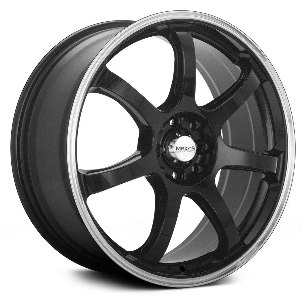 MAXXIM® KNIGHT Wheels - Gloss Black with Machined Lip Rims